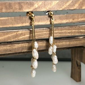 Jewelry - 14K and Freshwater Pearl Earrings